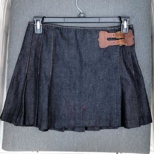 Mini tennis jean skirt